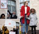 Opérée avec succès, la petite Jacqueline (à droite) a été accueillie comme il se doit par le proviseur et les élèves du lycée Thibaut-de-Champagne qui s'étaient mobilisés pour elle