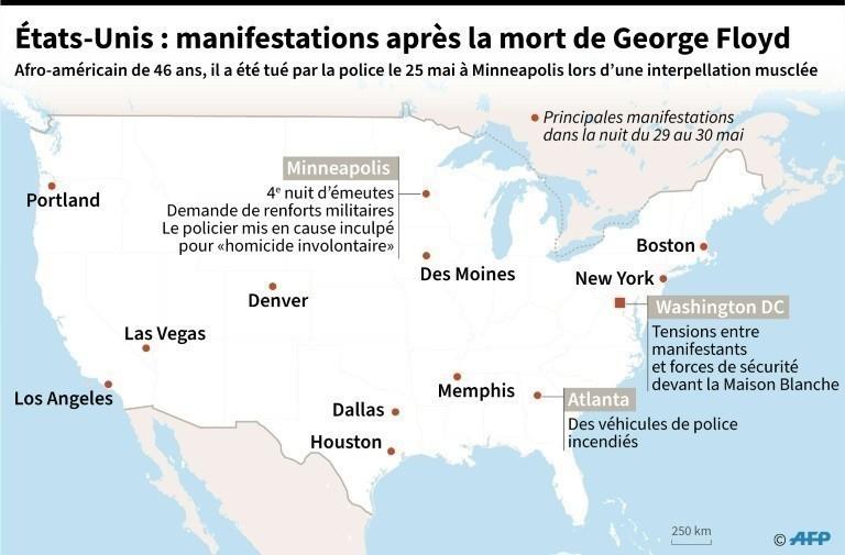 Etats-unis : manifestations après la mort de George Floyd.