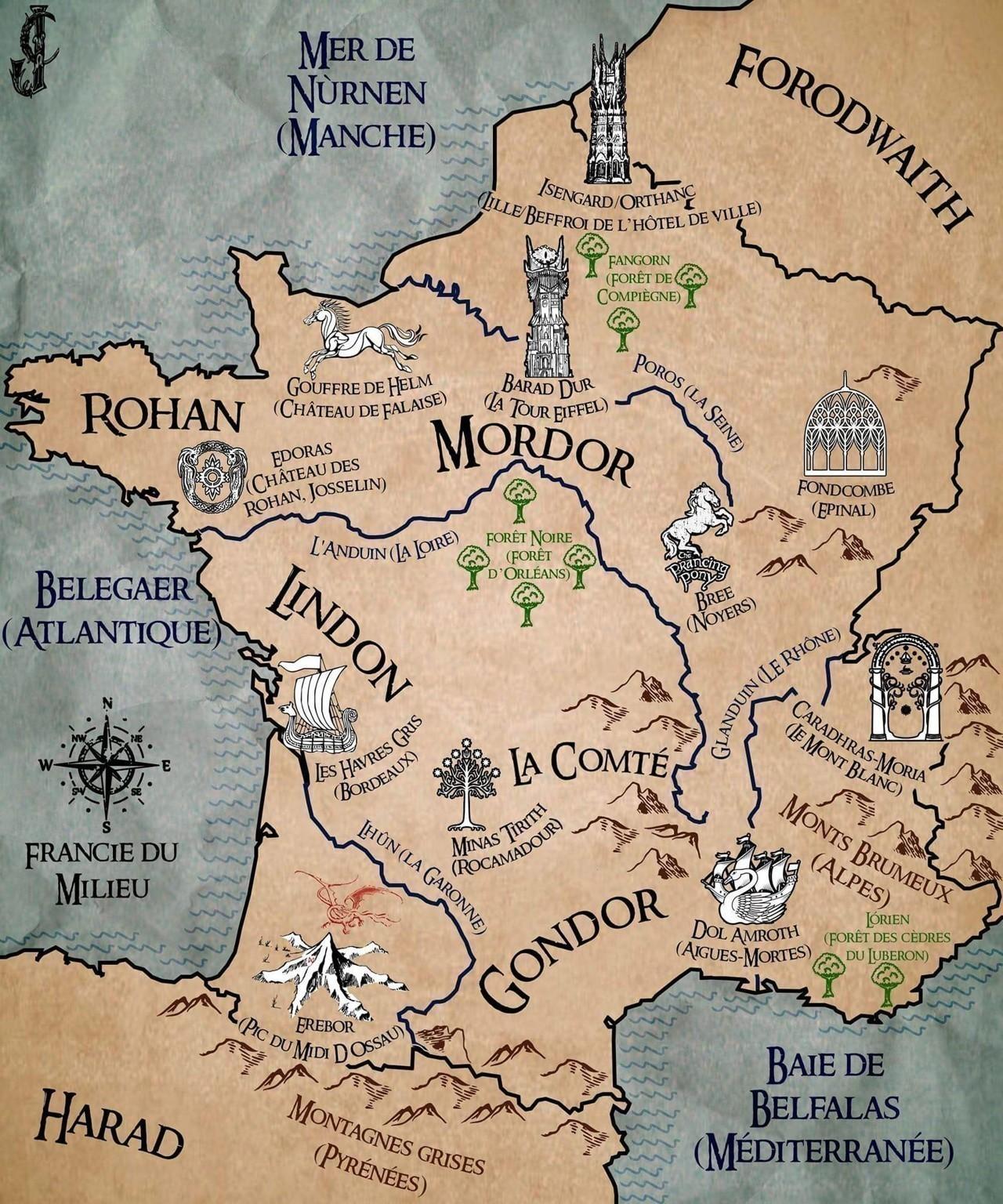 Le Seigneur Des Anneaux Carte : seigneur, anneaux, carte, Josselin, Château, Rohan, Devient, Edoras, Carte, Seigneur, Anneaux, Ploërmelais