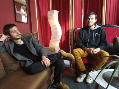 Quentin et Brice des Keykeepers en résidence au théâtre de Cahors dans le Lot..