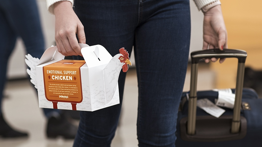 Popeyes Is Offering Emotional Support Chicken to Help Comfort Holiday Travelers  Adweek