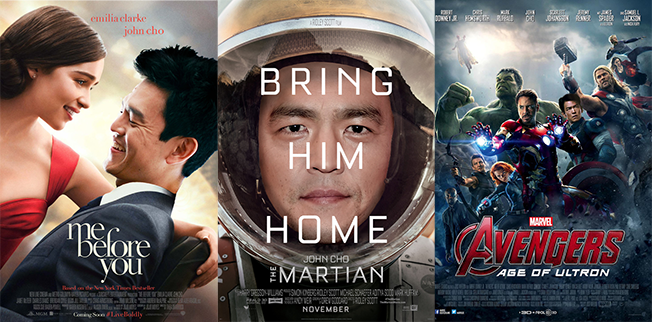 John Cho Appears in Popular Movie Posters to Address Lack