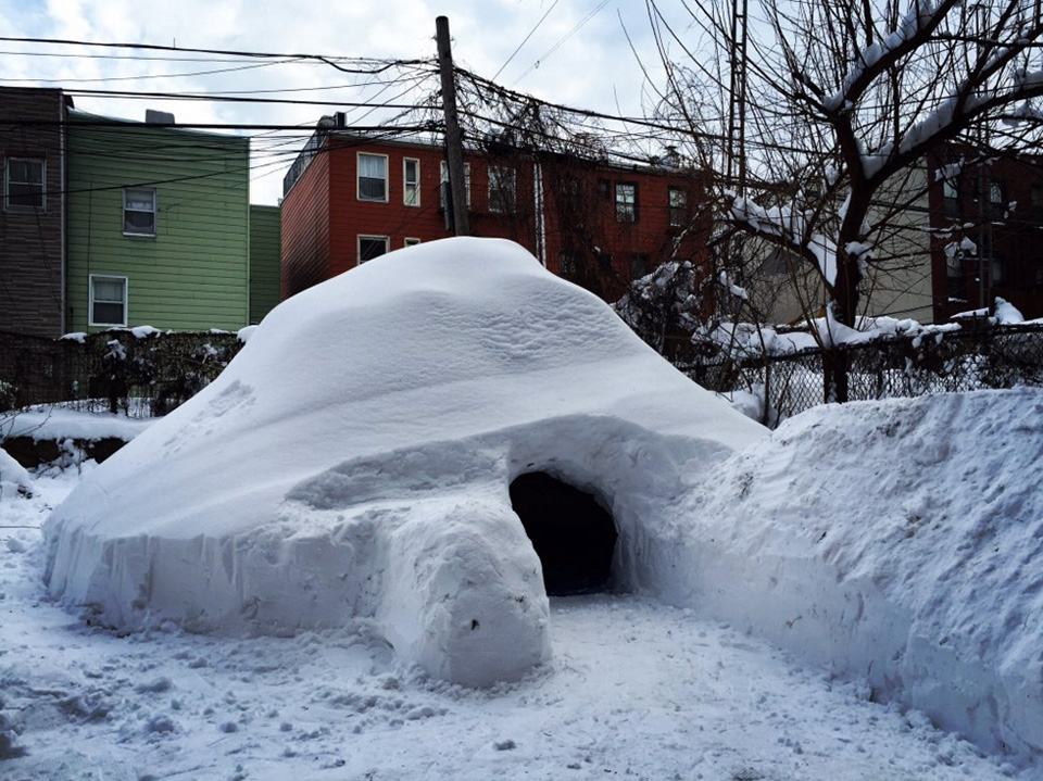 This Art Director Built an Igloo in His Backyard in Brooklyn and Listed It on Airbnb  Adweek