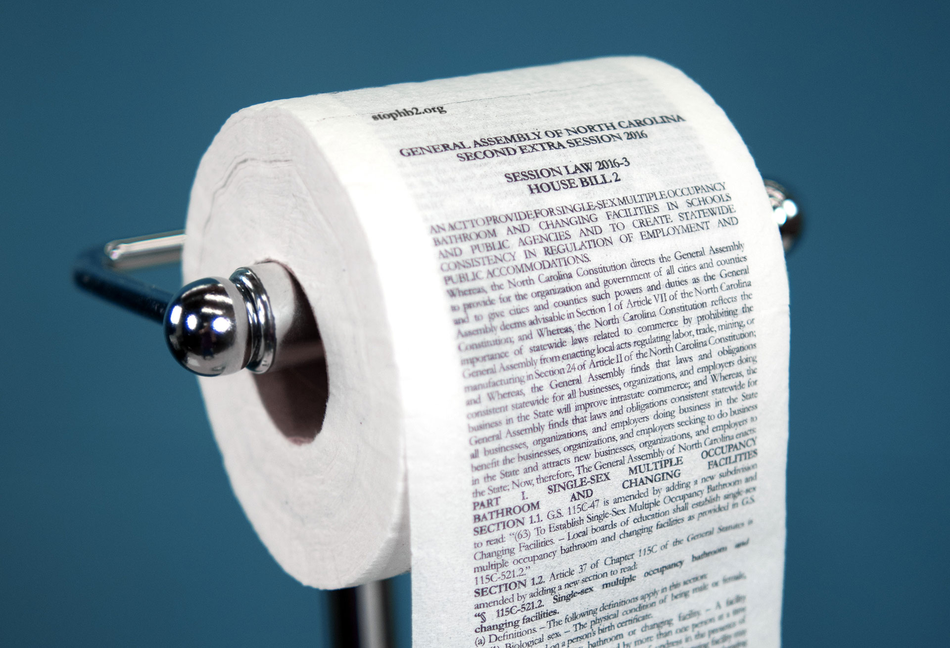 McKinney Printed NCs Bathroom Bill on Toilet Paper You Know What to Do With It  Adweek