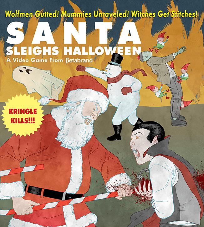 Santa 'Sleighs' Dracula in Betabrand's Murderous Video Game About Christmas Creep – Adweek
