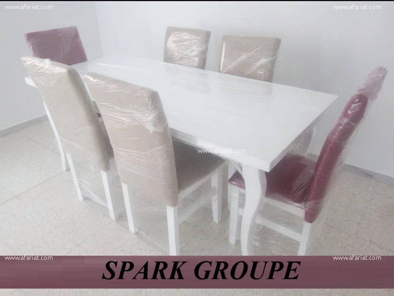 annonce table a manger avec 6 chaises capitonne