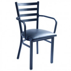 metal restaurant chairs chair cover rentals brantford restaurants commercial grade at competitive prices ladder back with arms
