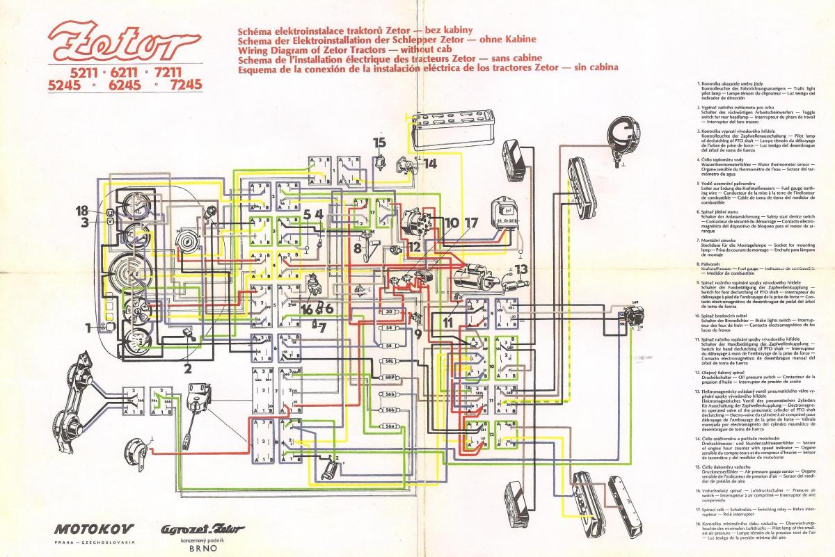 hight resolution of zetor 7211 wiring diagram wiring diagram sun super tachometer ii wiring faria tach wiring diagram