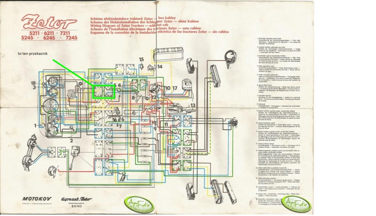 Tractor Diagrams Parts Zetor Wiring Diagram