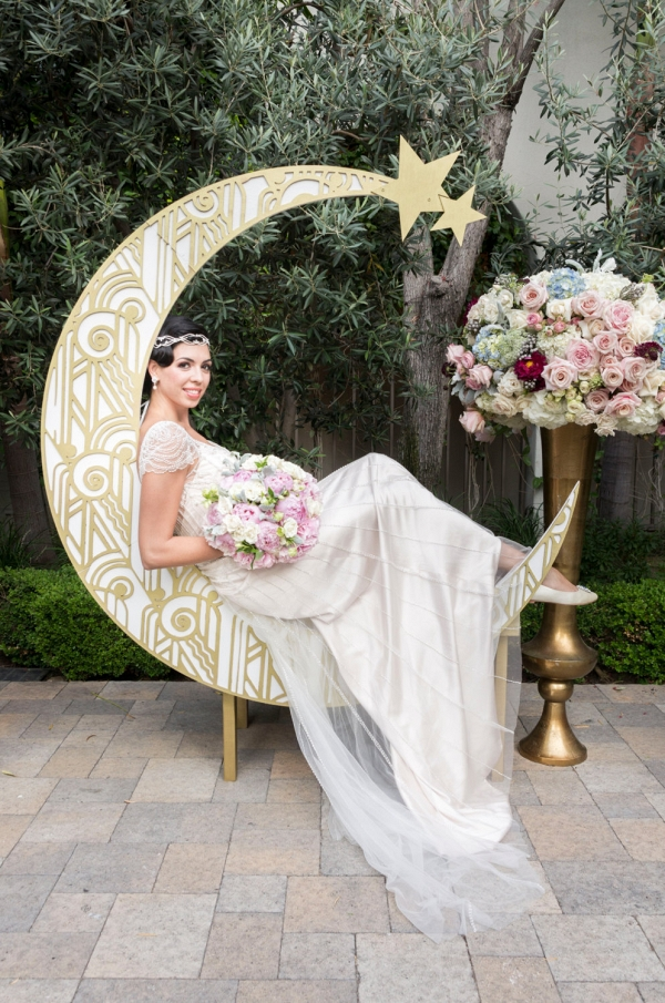 Gatsby Paper Moon Backdrop Aisle Society