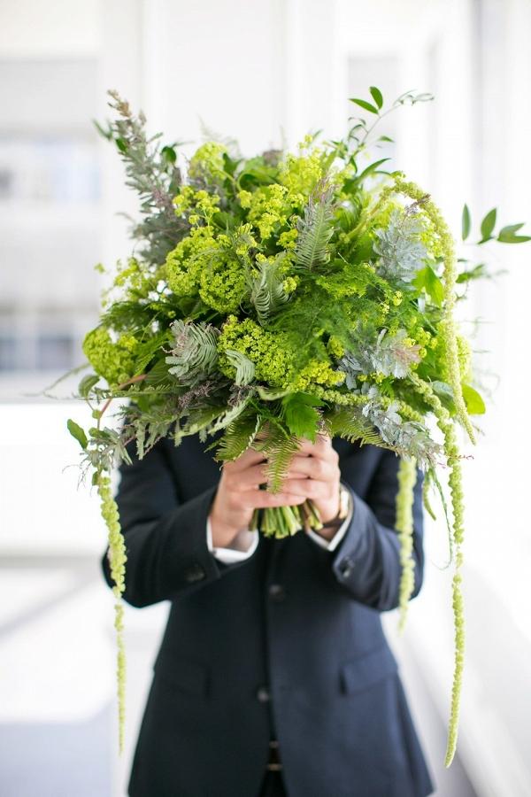 Greenery Wedding Bouquets  Aisle Society