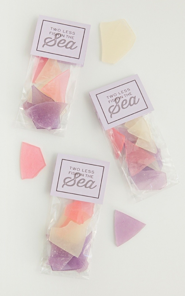 DIY Sea Glass Candy Favors Aisle Society