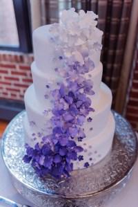 Purple Ombre Brunch Wedding - Aisle Society
