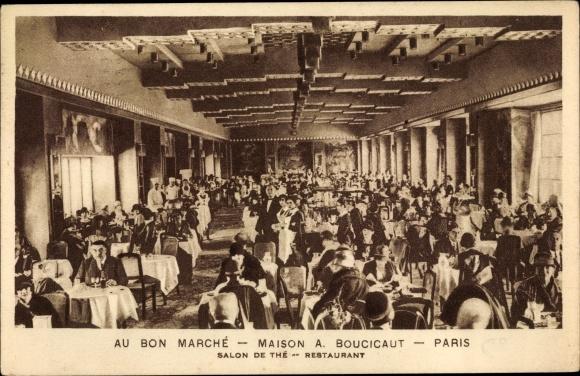 ansichtskarte postkarte paris au bon marche maison a boucicaut salon de the