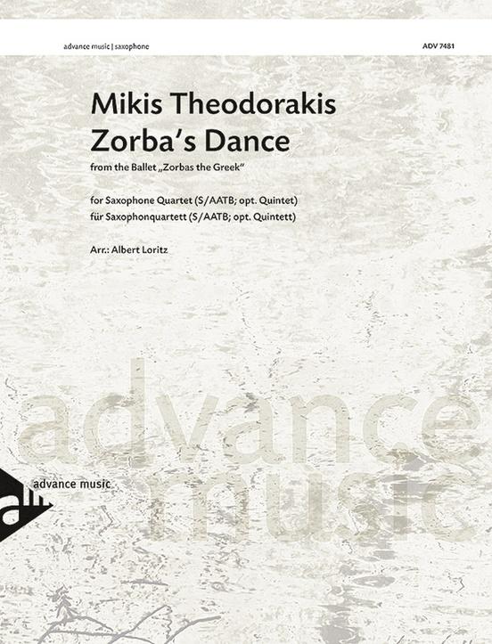 Zorba's Dance: 4-5 Saxophones (SA(A)TBar/AAT(T)Bar