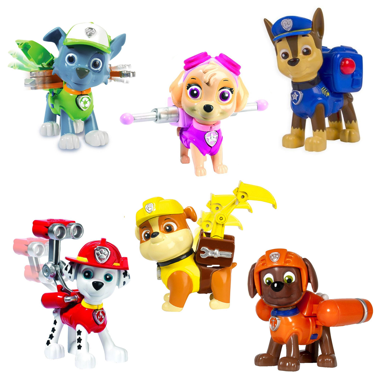 figurine pat patrouille paw patrol sac a dos coffret 6 figurines