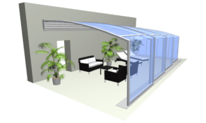 Patio enclosure CORSO Solid