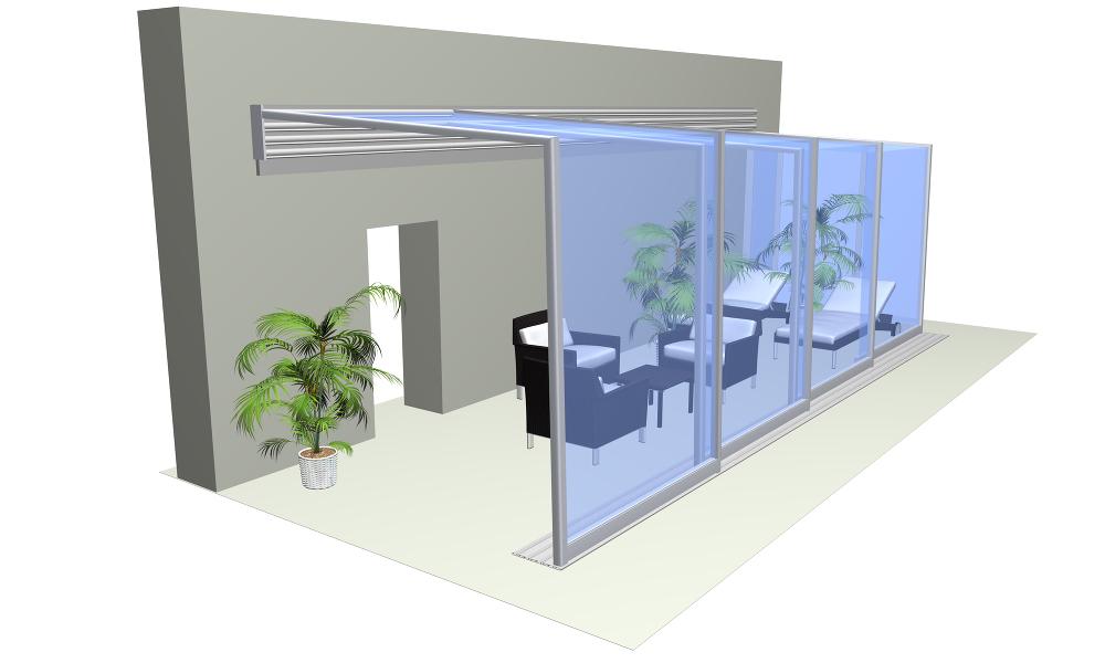 horeca enclosure system corso glass