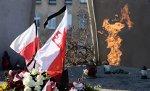 Flagi narodowe na Placu Solidarności w Gdańsku