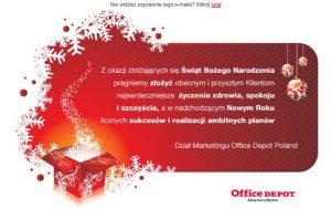 Office Depot - życzenia świąteczne