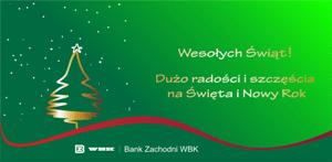 BZ WBK - życzenia świąteczne