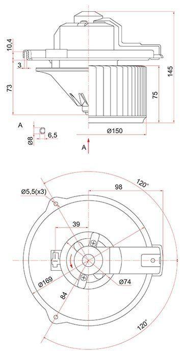 SAT ST8710312050 Мотор отопителя салона TOYOTA COROLLA