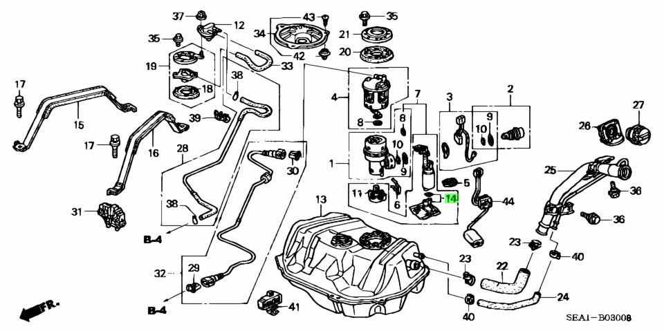 Buy Genuine Honda 17516SEA000 (17516-SEA-000) Filter, Fuel