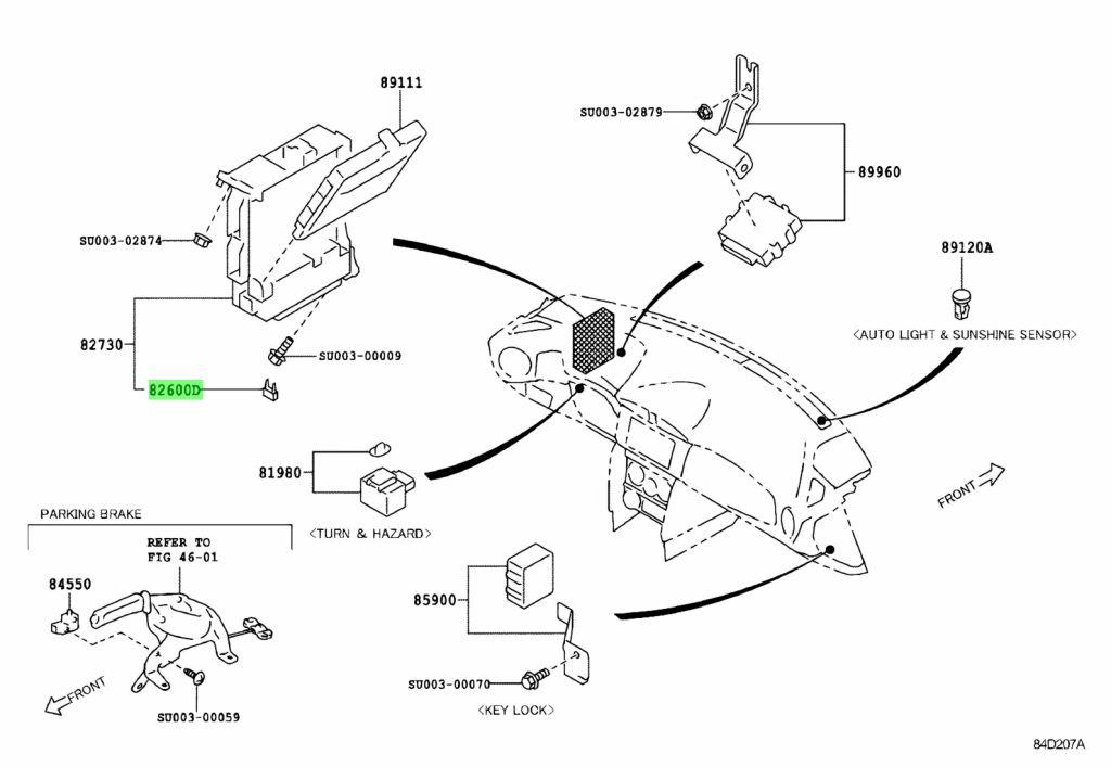 Genuine Toyota SU003-02423 (SU00302423) ENGINE ROOM FUSE