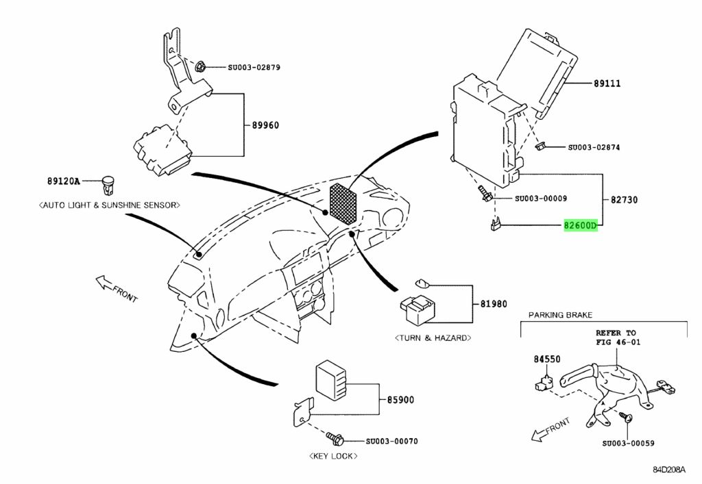 Genuine Toyota SU003-04126 (SU00304126) ENGINE ROOM FUSE