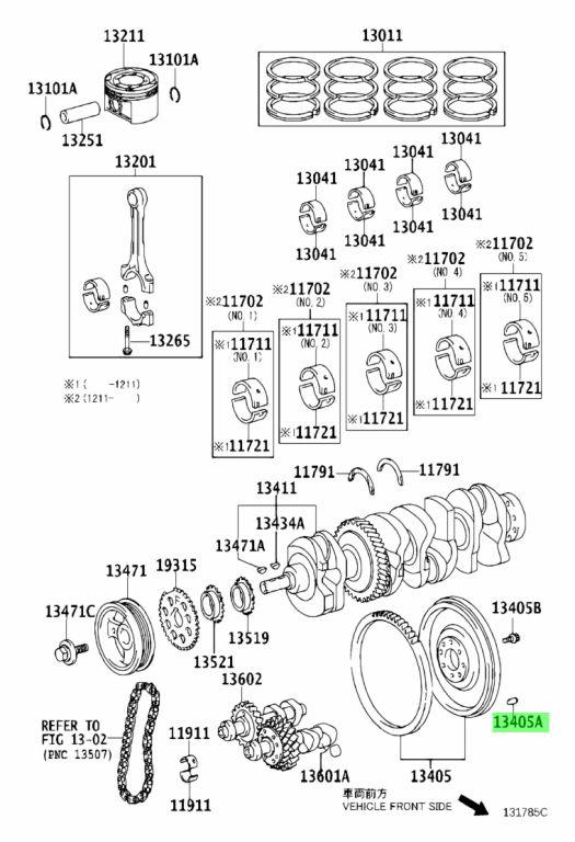 Genuine Toyota 90250-08054 (9025008054) PIN, STRAIGHT