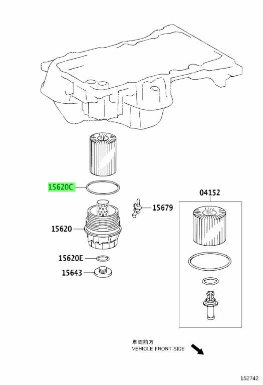 Genuine Toyota 90301-79006 (9030179006) GASKET (FOR OIL