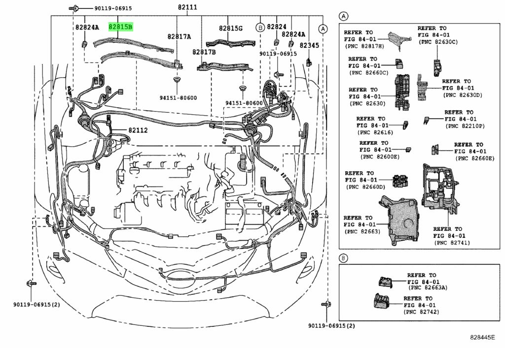 Genuine Toyota 82815-12150 (8281512150) COVER, WIRING