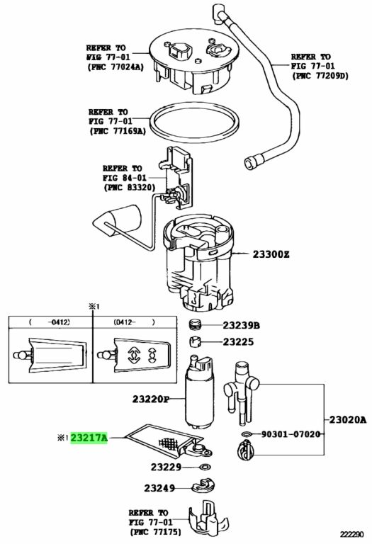 Buy Genuine Toyota 23217-74021 (2321774021) Filter, Fuel