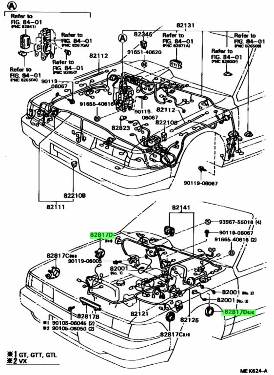 Genuine Toyota 82817-24110 (8281724110) PROTECTOR, WIRING