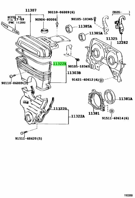 Genuine Toyota 11329-88410 (1132988410) GASKET, TIMING