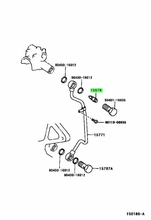 Genuine Toyota 15678-46020 (1567846020) FILTER, OIL