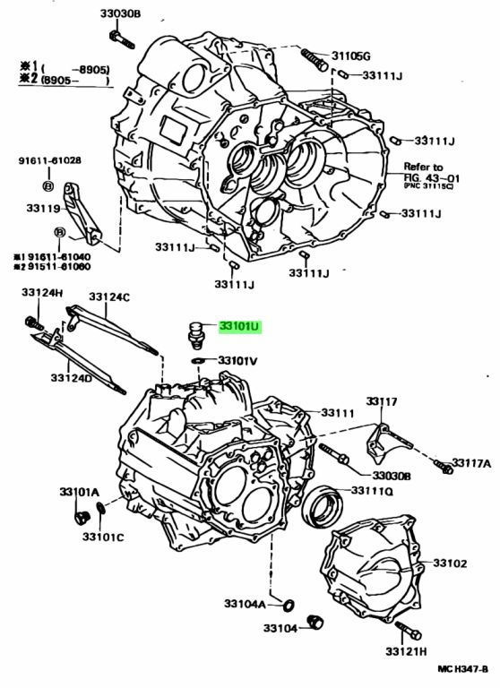 Toyota 90930-03111 (9093003111) PLUG, BREATHER (FOR MANUAL