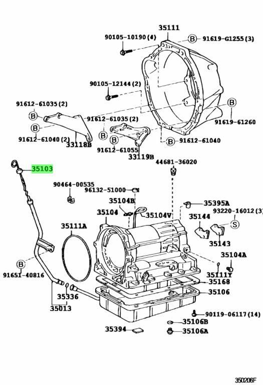 Genuine Toyota 35103-26110 (3510326110) GAGE SUB-ASSY
