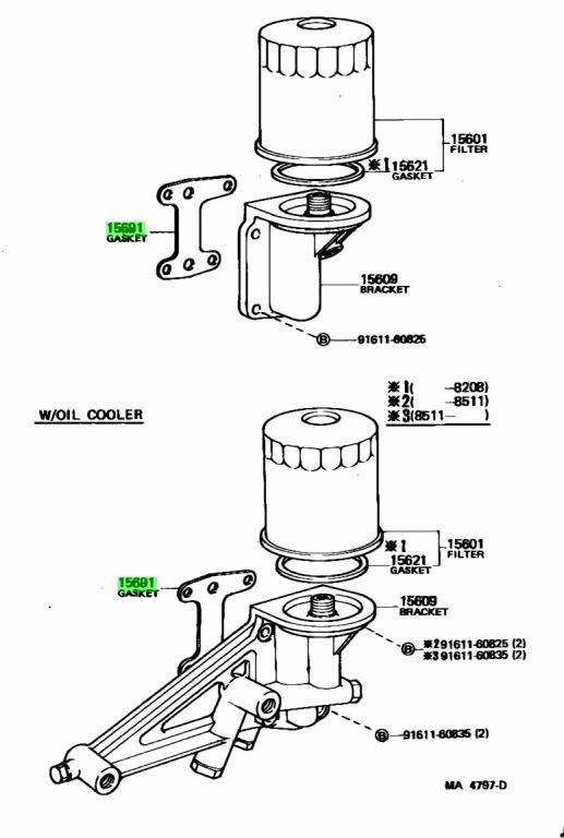 Genuine Toyota 15691-56030 (1569156030) GASKET, OIL FILTER