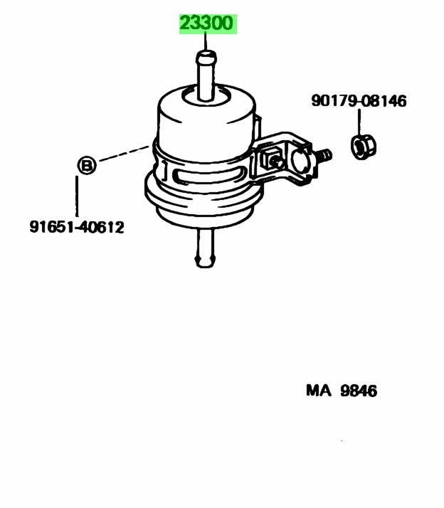 Buy Genuine Toyota 2330061070 (23300-61070) Filter Assy