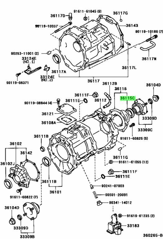 Toyota 90311-38140 (9031138140) Сальник раздатки