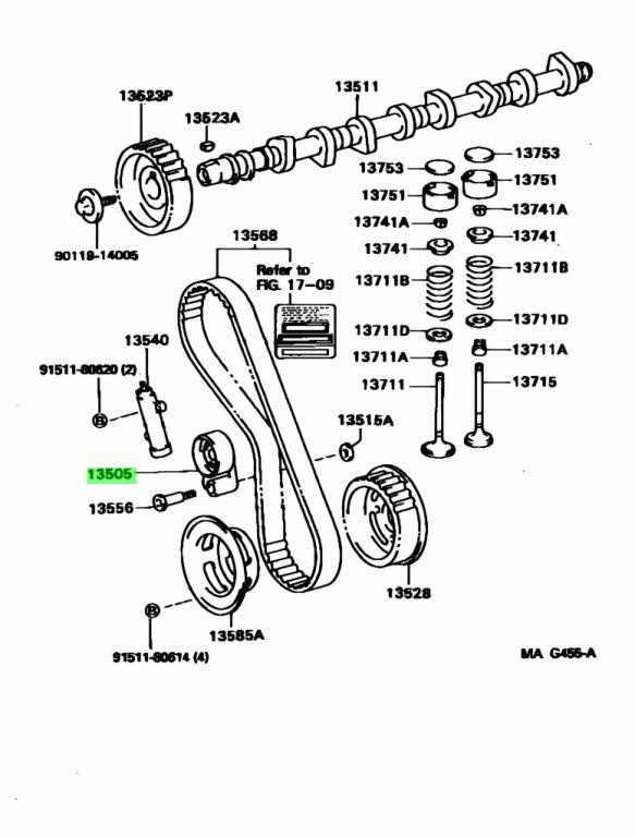 Genuine Toyota 13505-67040 (1350567040) IDLER SUB-ASSY