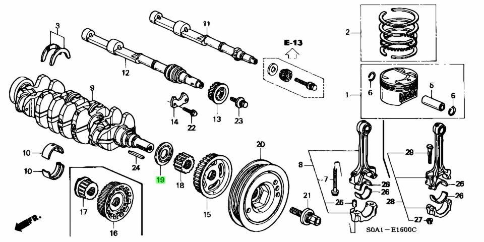 Genuine Honda 13622-PT2-010 (13622PT2010) PLATE, TIMING