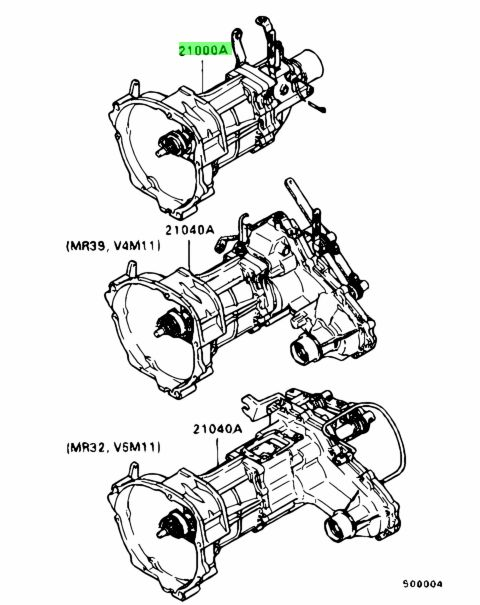 Genuine Mitsubishi MD995213 MANUAL TRANSMISSION ASSY for