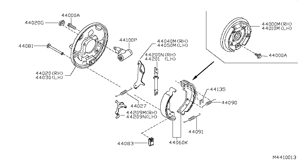 Chassis and transmission for Nissan Navara 2 generation