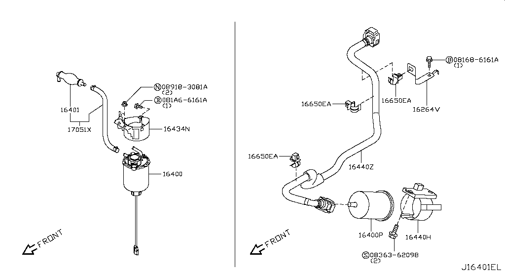 Buy genuine fuel injection & strainer (engine) for Nissan