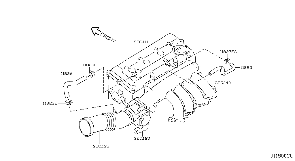 Купить crank case ventilation (engine) для Nissan X-Trail