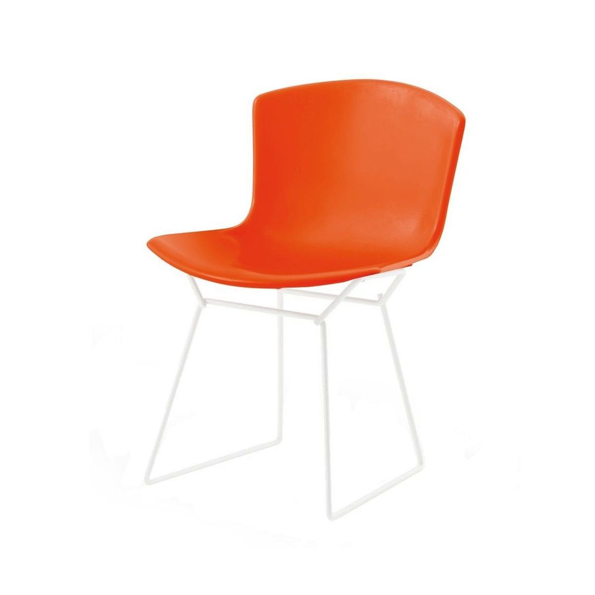 white bertoia side chair office replacement base plastic knoll international