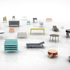 Gandia Blasco Clack Chair Pink Folding Camping Stack Garden Furniture Set