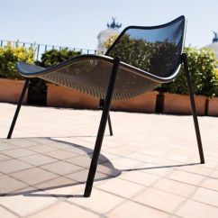 Circular Lounge Chair Black Velvet Chaise Round Emu Ambientedirect